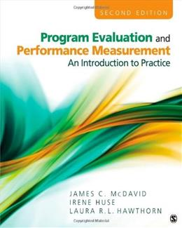 Program Evaluation and Performance Measurement: An Introduction to Practice: Volume 2 9781412978316