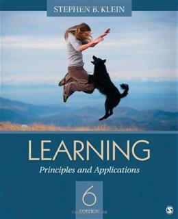 Learning: Principles and Applications, by Klein, 6th Edition 9781412987349