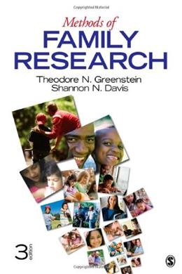 Methods of Family Research, by Greenstein, 3rd Edition 9781412992831
