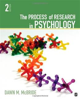 Process of Research in Psychology, by McBride, 2nd Edition 9781412999557
