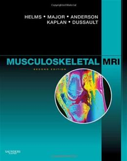 Musculoskeletal MRI, by Helms, 2nd Edition 9781416055341