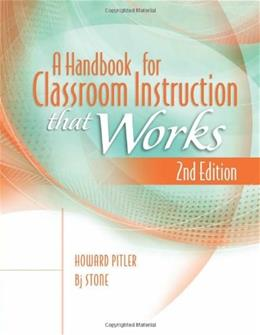 Handbook for Classroom Instruction That Works, by Pitler, 2nd Edition 9781416614685