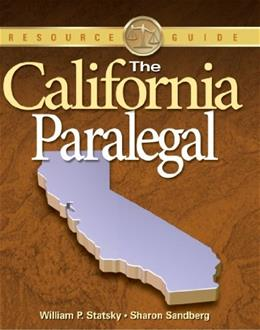 California Paralegal, by Statsky, Resource Guide 9781418012946