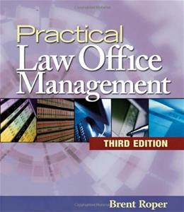Practical Law Office Management, by Roper 3 w/CD 9781418029708