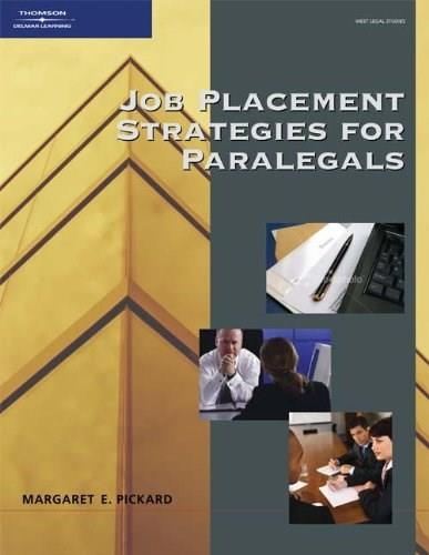 Job Placement Strategies for Paralegals, by Pickard 9781418040086