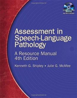 Assessment in Speech-Language Pathology: A Resource Manual 4 PKG 9781418053284