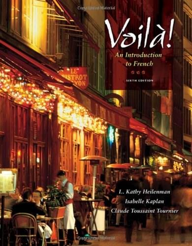 Voila!: An Introduction to French, by Heilenman, 6th Edition 6 w/CD 9781428231313