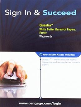 Questia, by Wadsworth, ACCESS CODE ONLY 9781428277441