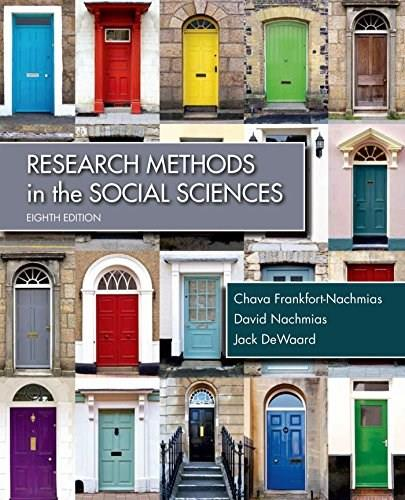 Research Methods in the Social Sciences 8 9781429233002