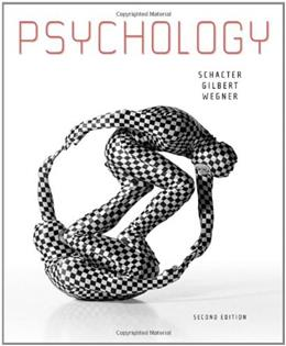 Psychology, by Schacter, 2nd Edition 9781429237192