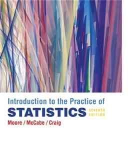 Introduction to the Practice of Statistics, by Moore, 7th Edition 7 w/CD 9781429240321