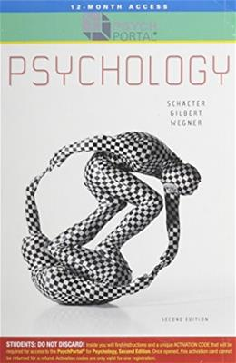 PsychPortal for Psychology, by Schacter, 2nd Edition, ACCESS CODE ONLY 2 PKG 9781429241243