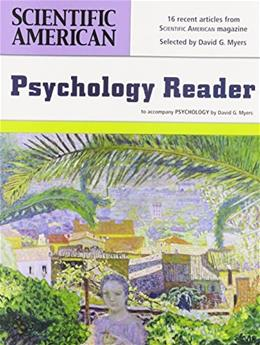 Scientific American Reader Psychology, by Myers, 3rd Edition 9781429251433