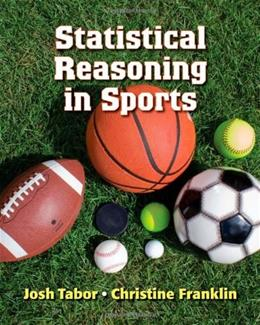 Statistical Reasoning in Sports, by Tabor 9781429274371