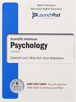 LaunchPad for Lichts Scientific American: Psychology (Six Month Access) First Edit 9781429282888