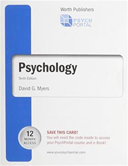 PsychPortal for Psychology, by Myers, 10th Edition, Access Code ONLY 10 PKG 9781429287050