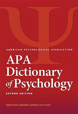 Dictionary of Psychology, by APA, 2nd Edition 9781433819445