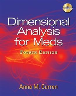 Dimensional Analysis for Meds, 4th Edition 4 w/CD 9781435438675