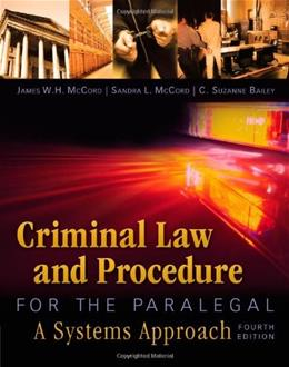 Criminal Law and Procedure for the Paralegal 4 9781435440166