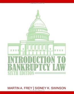 Introduction to Bankruptcy Law 6 9781435440807