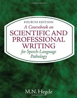 Coursebook on Scientific and Professional Writing, by Hegde, 4th Edition 9781435469556