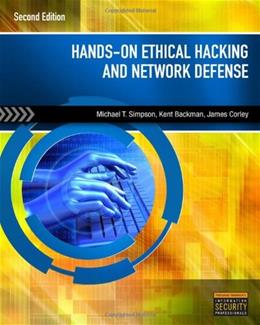 Hands-On Ethical Hacking and Network Defense 2 w/CD 9781435486096
