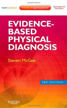 Evidence Based Physical Diagnosis, by McGee, 3rd Edition 3 PKG 9781437722079