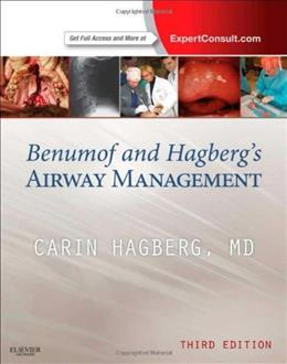 Benumof and Hagbergs Airway Management, by Hagberg, 3rd Edition 9781437727647