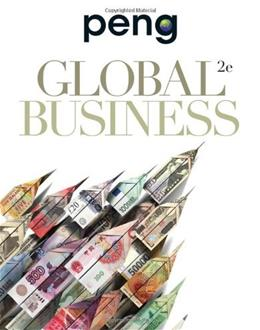 Global Business, by Peng, 2nd Edition 9781439042243