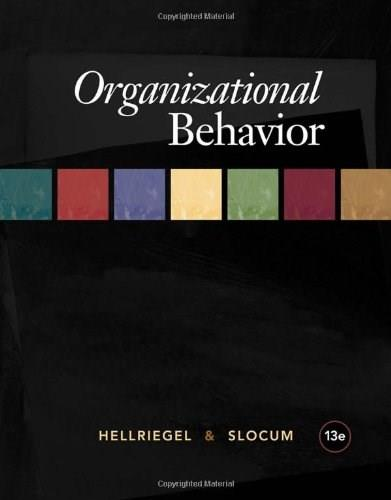Organizational Behavior (Available Titles CourseMate) 13 9781439042250