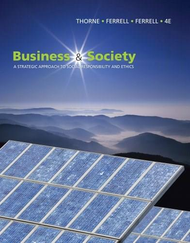 Business and Society: A Strategic Approach to Social Responsibility (Available Titles CourseMate) 4 9781439042311