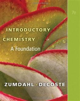 Introductory Chemistry: A Foundation (Available Titles OWL) 7 9781439049402