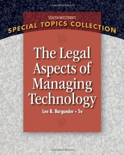 Legal Aspects of Managing Technology 5 9781439079812