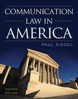 Communication Law in America 4 9781442226227