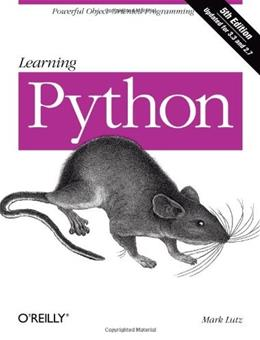 Learning Python, 5th Edition 9781449355739