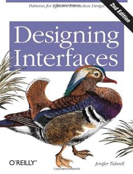 Designing Interfaces, by Tidwell, 2nd Edition 9781449379704