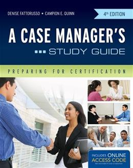 Case Managers, by Fattorusso, 4th Editon, Study Guide 4 PKG 9781449683351