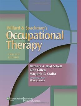 Willard and Spackmans Occupational Therapy 12 PKG 9781451110807