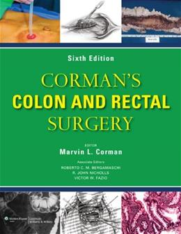 Colon and Rectal Surgery, by Corman, 6th Edition 6 PKG 9781451111149