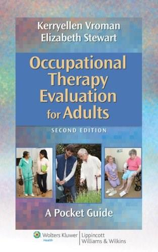 Occupational Therapy Evaluation for Adults: A Pocket Guide, by Vroman, 2nd Edition 2 PKG 9781451176193