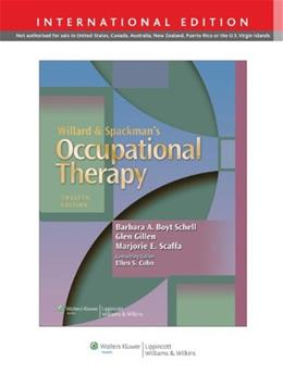 Willard & Spackmans Occupational Therapy 12th revis 9781451189070