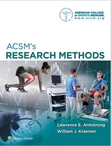 Research Methods, by ACSM 9781451191745