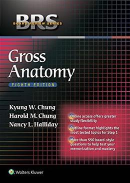 BRS Gross Anatomy, by Chung 8 PKG 9781451193077