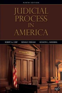Judicial Process in America, 9th Edition 9781452226323
