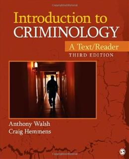 Introduction to Criminology: A Text/Reader, by Walsh, 3rd Edition 9781452258201