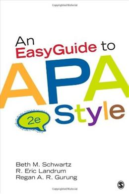 An EasyGuide to APA Style (EasyGuide Series) 2 9781452268392