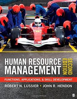 Human Resource Management: Functions, Applications, and Skill Development 2 9781452290638