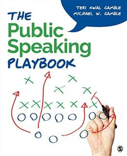 Public Speaking Playbook, by Gamble 9781452299501