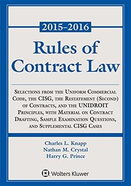 Rules of Contract Law Statutory Supplement (Supplements) 2015-2016 9781454840596