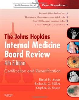 Johns Hopkins Internal Medicine Board Review: Certification and Recertification, by Ashar, 4th Edition 4 PKG 9781455706921